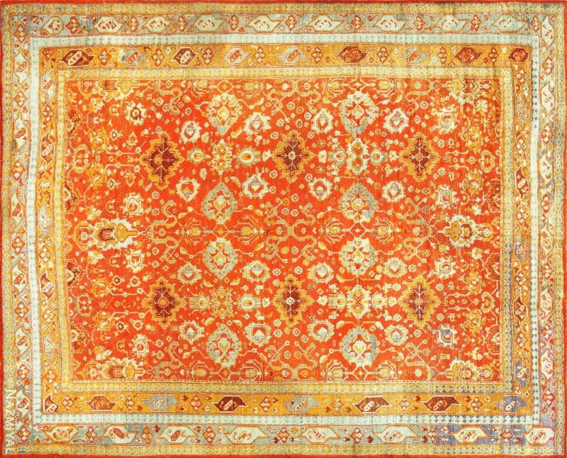 Antique Turkish Angora Oushak Rug | Nazmiyal