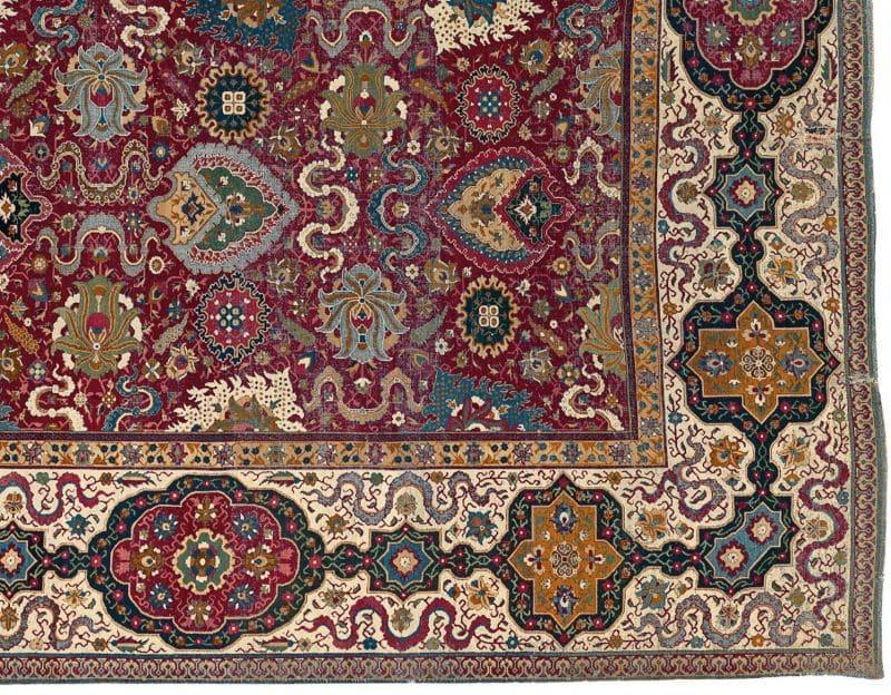 Trinitarias Carpet Closeup Nazmiyal