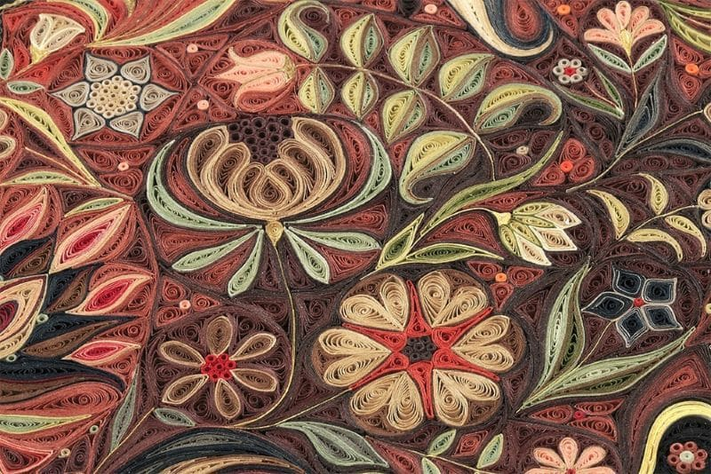 Lisa Nilsson Paper Quilling Carpet Closeup Nazmiyal