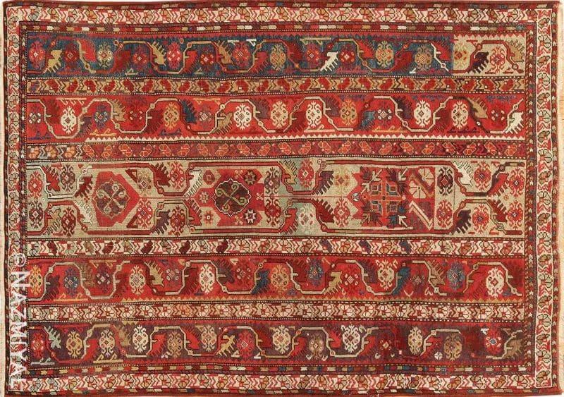 Small Antique Tribal Turkish Milas Rug Nazmiyal