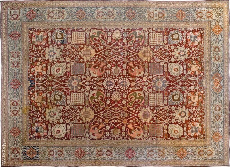 Antique Persian Tabriz Rug Nazmiyal