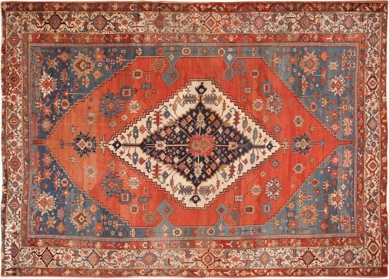 Large Antique Persian Bakshaish Rug Nazmiyal