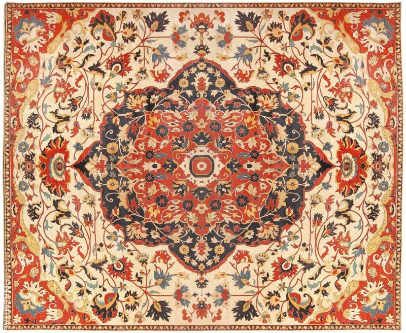 Oversized Antique Persian Sarouk Farahan Carpet Nazmiyal