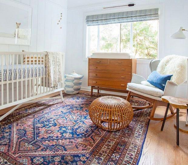 Child's Nursery Room Interior Design With Tribal Rug by nazmiyal