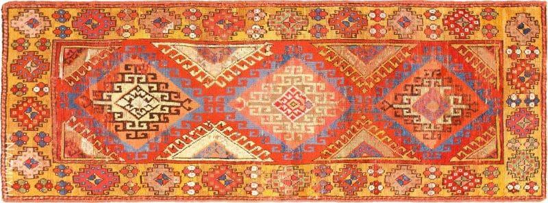 Antique Tribal Turkish Konya Runner Rug Nazmiyal