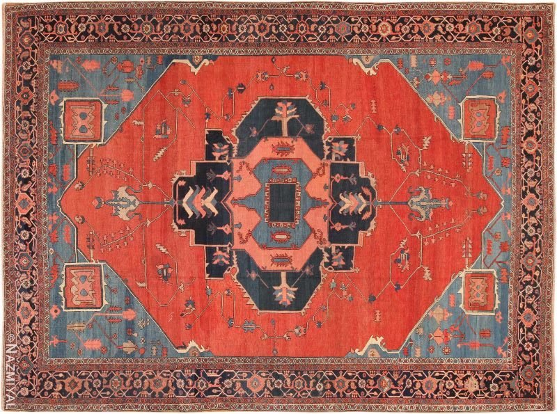Antique Room Size Bakshaish Persian Rug Nazmiyal