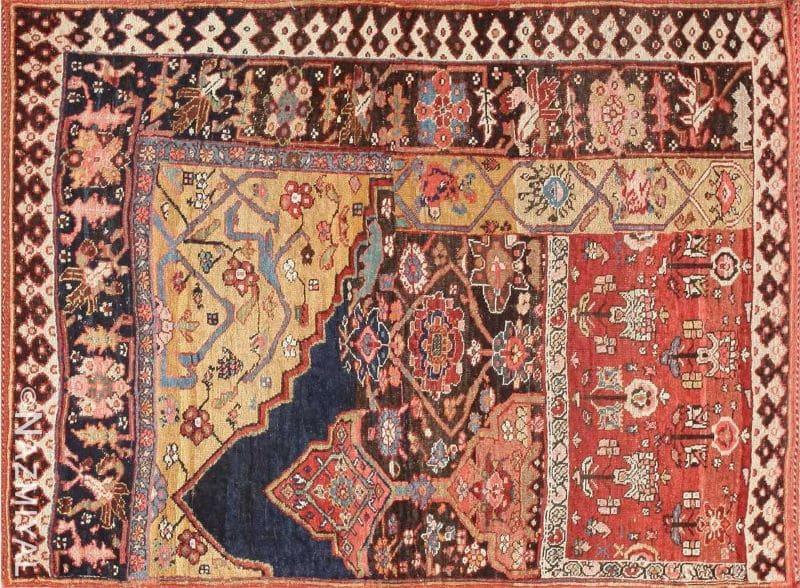 Antique Persian Bidjar Sampler Rug Nazmiyal
