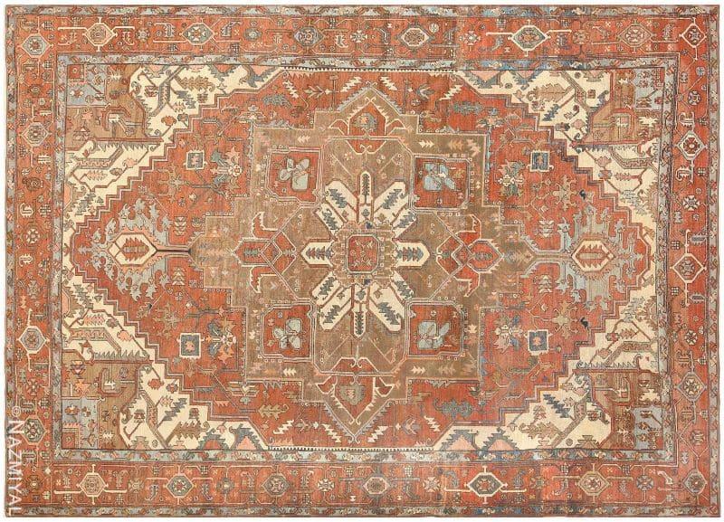 Room Sized Antique Persian Serapi Carpet Nazmiyal
