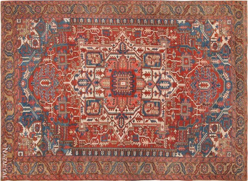 Room Size Antique Persian Heriz Rug Nazmiyal
