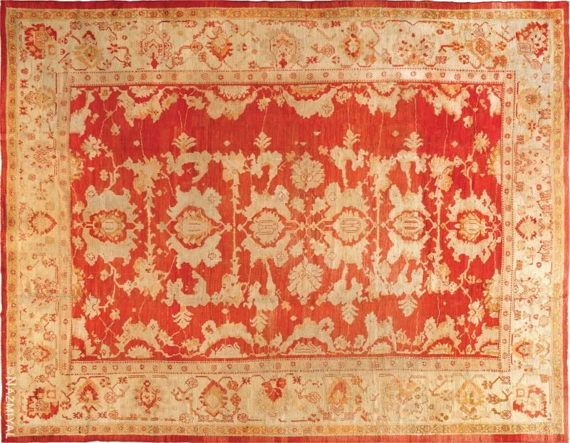Large Antique Turkish Oushak Rug Nazmiyal