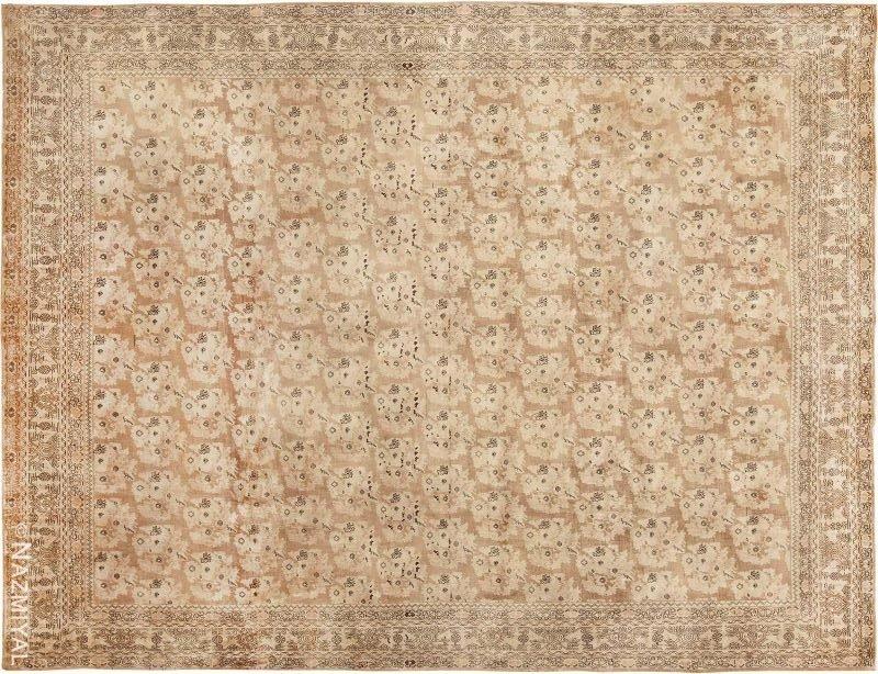 Antique Earth Tone Persian Bidjar Carpet Nazmiyal