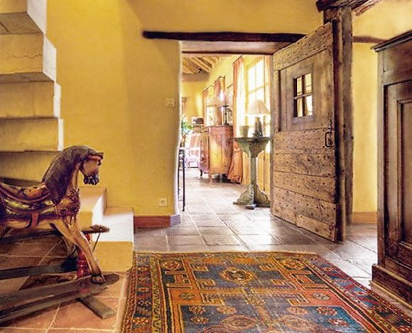 Tribal Oriental Rug In Home Interior Design by Nazmiyal