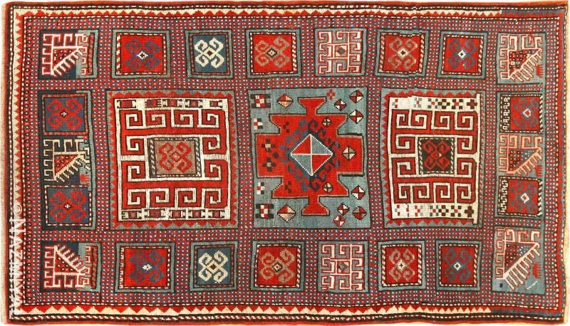 Antique Caucasian Kazak Rug Nazmiyal