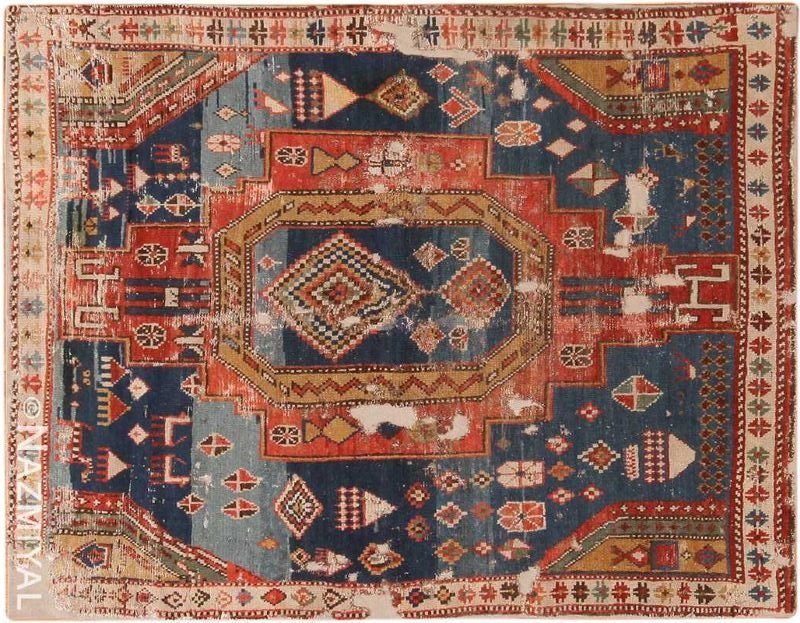 Antique Caucasian Dagestan Rug Nazmiyal