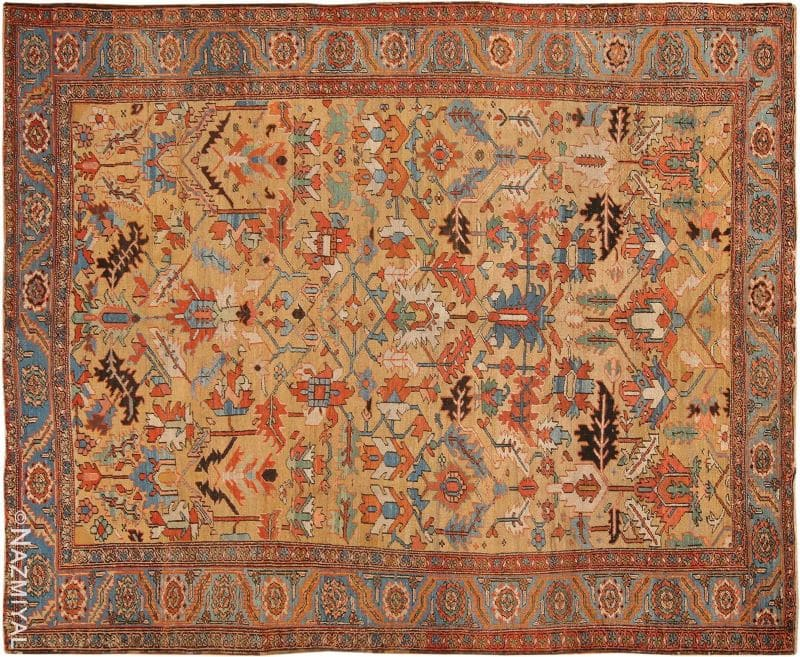 Antique Persian Heriz Rug Nazmiyal