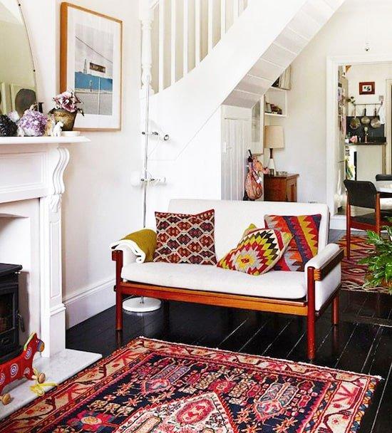 Eclectic Tribal Turkish Rug Interior Design - Nazmiyal