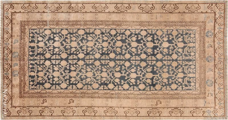 Antique Blue Pomegranate Khotan Rug Nazmiyal