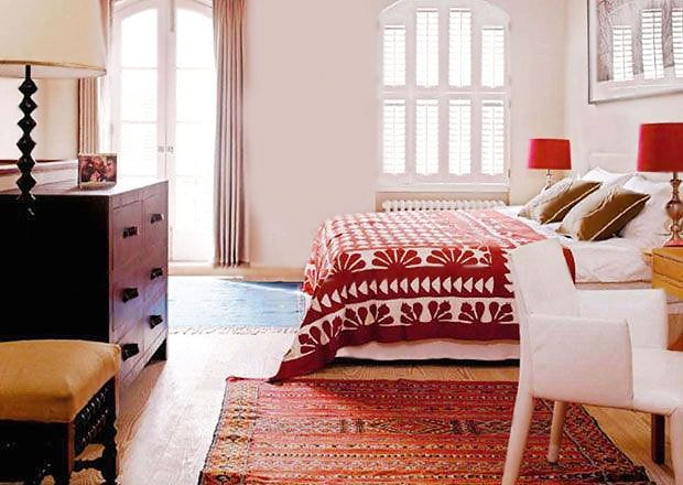 Bedroom Interior Decorating With Rugs by Nazmiyal