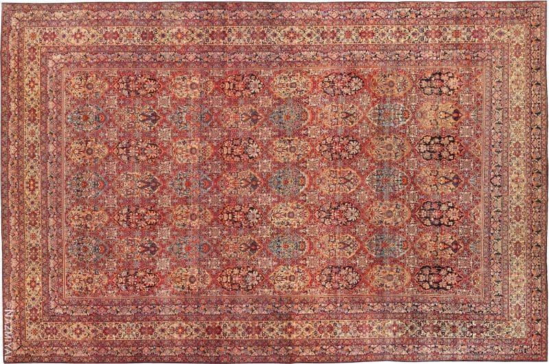 Antique Persian Kerman Carpet Nazmiyal