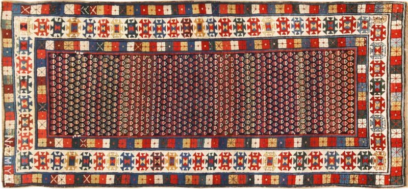 Antique Caucasian Talish Runner Rug Nazmiyal