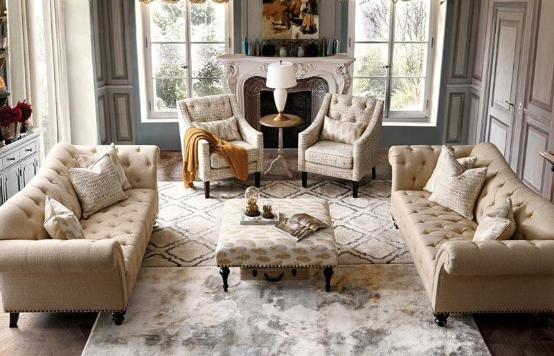 Neutral Rugs in Beige Neutral Color Palette Interior - Nazmiyal