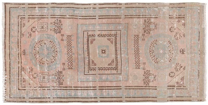 Shabby Chic Antique Khotan Rug Nazmiyal