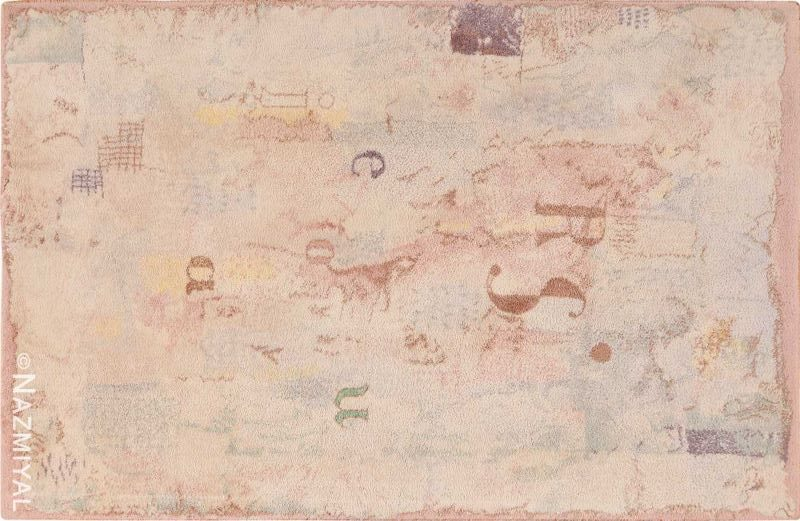Vintage Scandinavian Paul Klee Modern Art Rug Nazmiyal