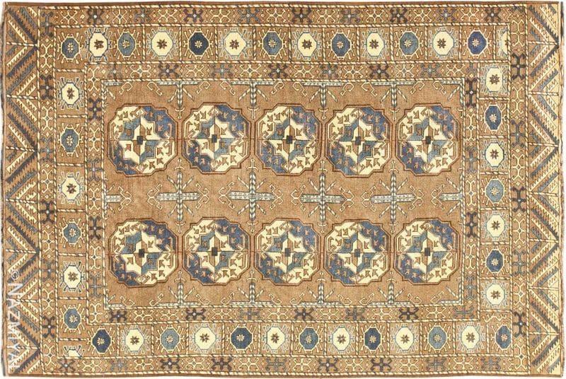 Beautiful Earthtone Antique Afghan Rug Nazmiyal