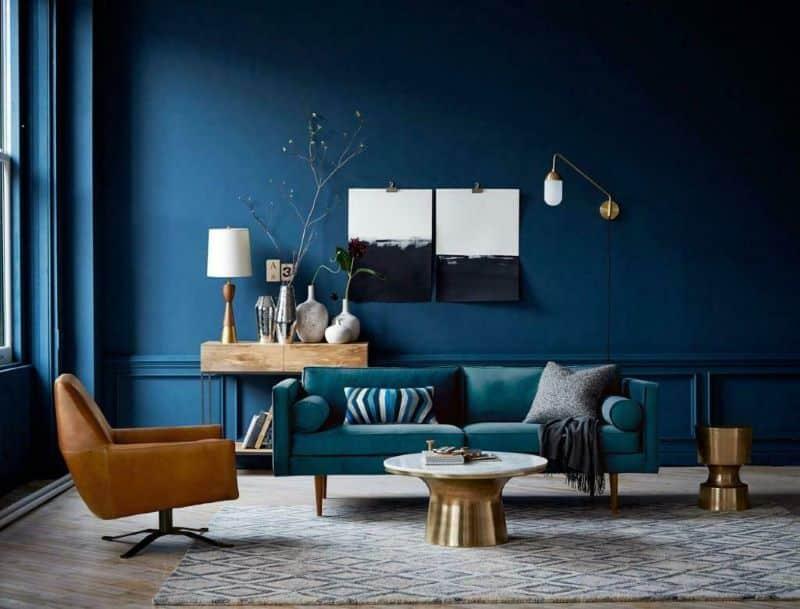 Interior Decor with Cool Colors Nazmiyal