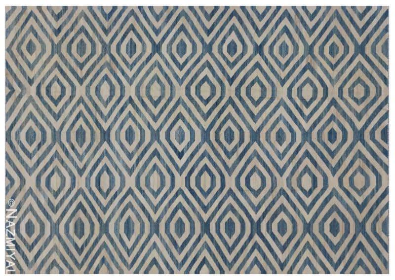 Modern Flat Weave Rug Nazmiyal