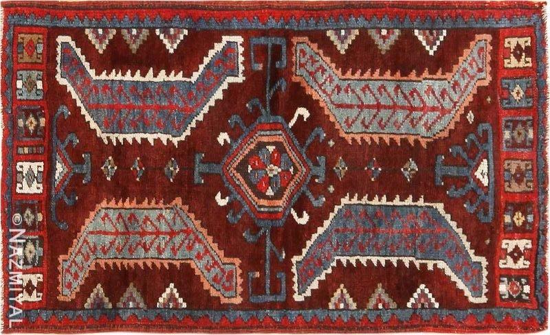 Small Antique Turkish Yastic Rug Nazmiyal