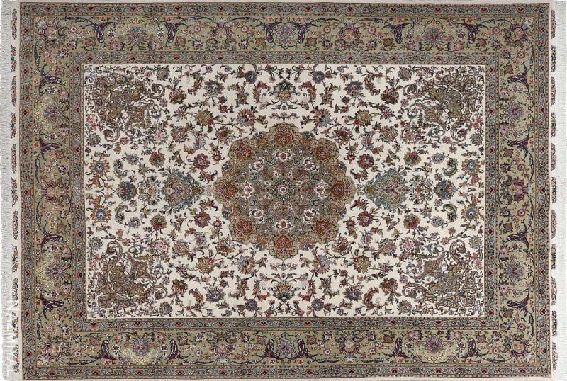 Fine Gharebaghi Design Vintage Tabriz Persian Rug Nazmiyal