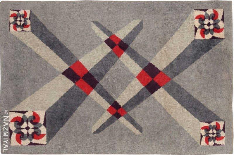 Vintage Art Deco Rug By Pierre Cardin Nazmiyal