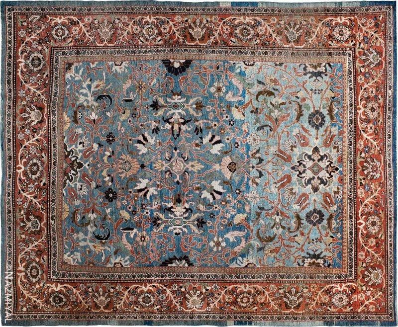 Antique Ziegler Sultanabad Carpet Nazmiyal