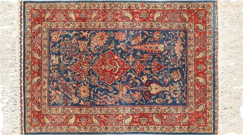 Vintage Silk Turkish Herekeh Rug Nazmiyal