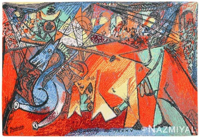 Vintage Pablo Picasso Rug Nazmiyal