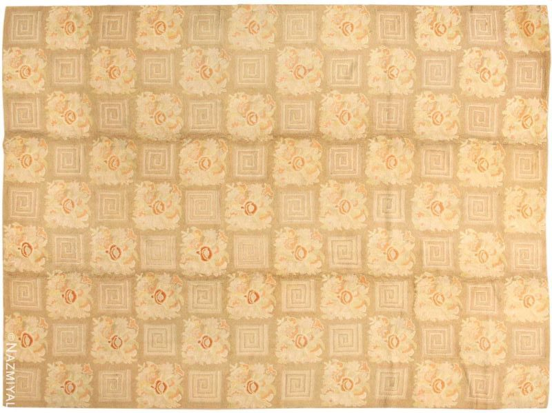 Floral Pattern Room Size Antique American Hooked Rug Nazmiyal