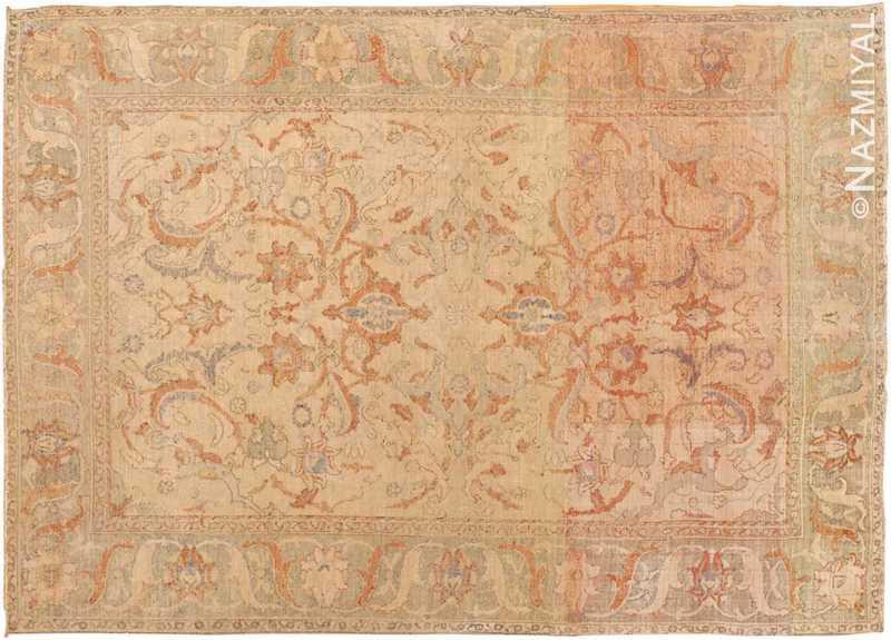 Antique 17th Century Silk Persian Polonaise Rug Nazmiyal