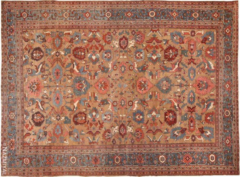 Antique Camel Hair Bakshaish Persian Rug Nazmiyal