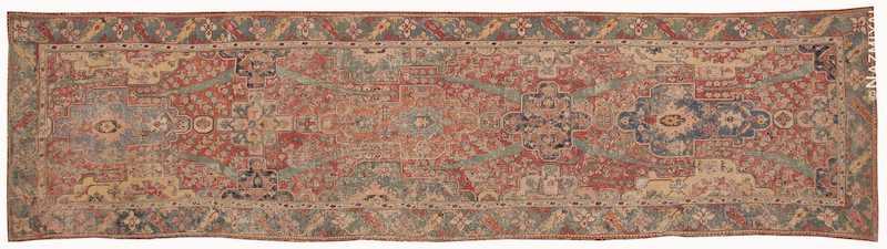 Rare Antique 17th Century Gallery Size Khorassan Persian Rug Nazmiyal
