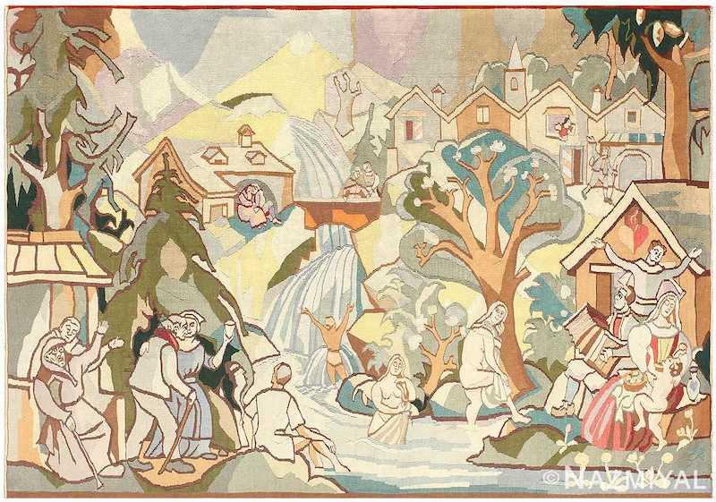 Vintage Swedish Tapestry Nazmiyal