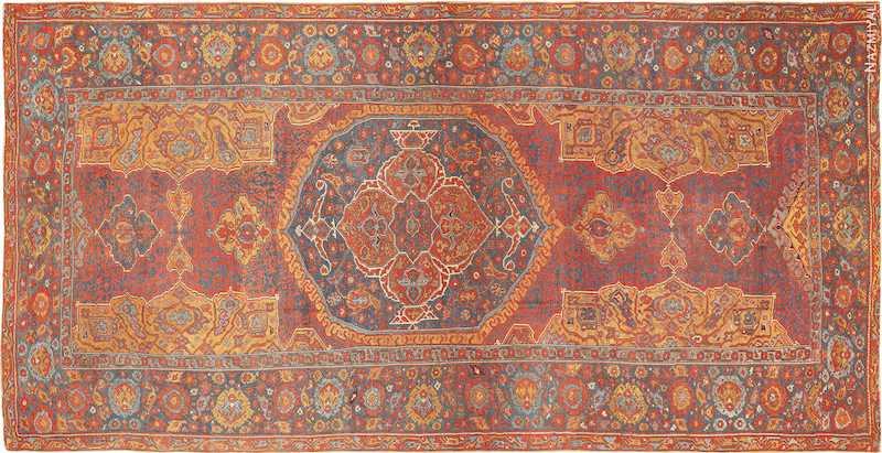 Antique 17th Century Turkish Smyrna Rug Nazmiyal