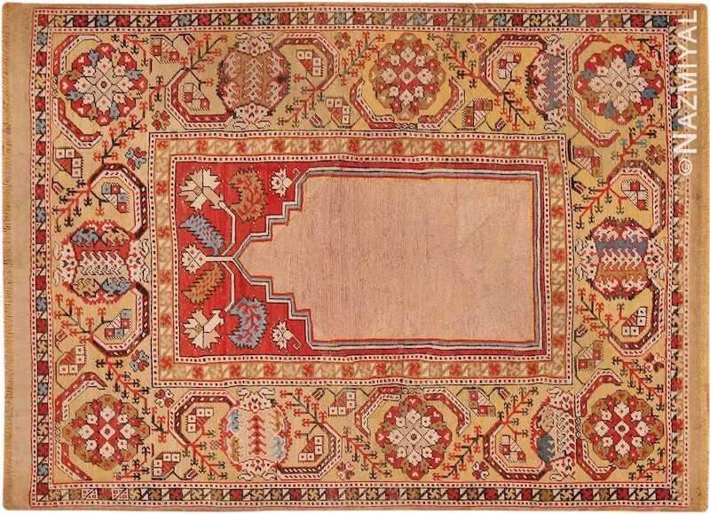 Antique 17th Century Transylvanian Prayer Rug Nazmiyal