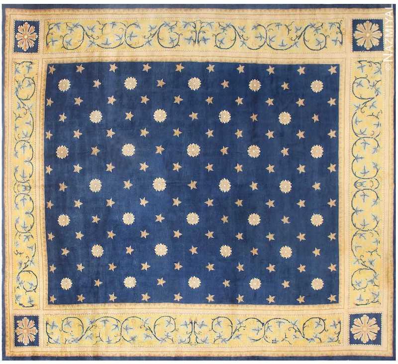 Antique Spanish Carpet with Celestial Design Nazmiyal