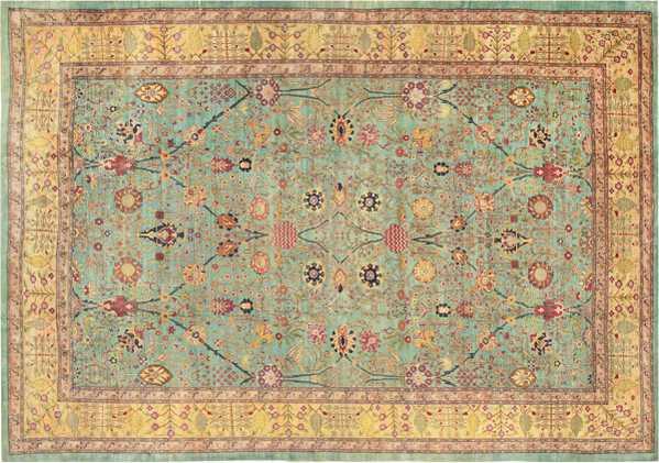 Antique Agra Oriental Rug, Nazmiyal