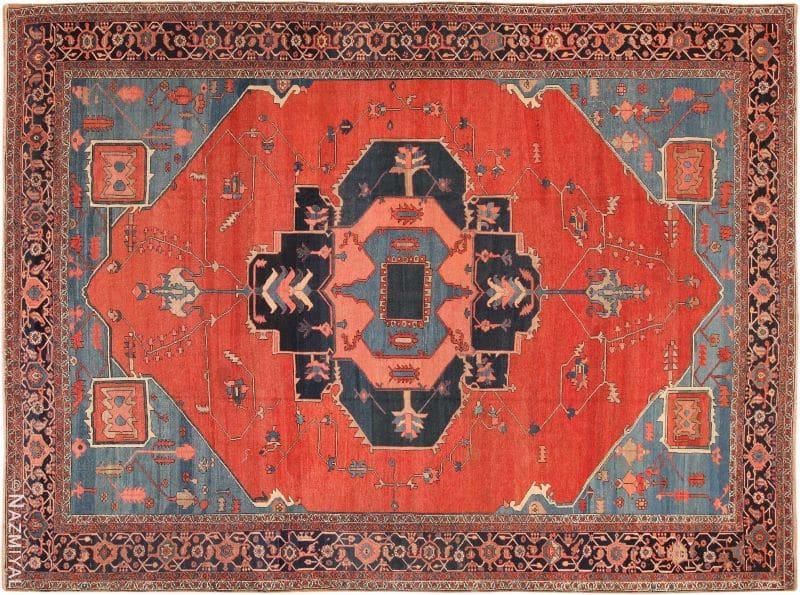 Antique Room Size Bakshaish Persian Rug Nazmiyal