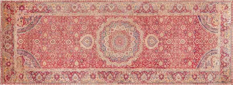 Large Antique 17th Century Mughal Gallery Carpet Nazmiyal