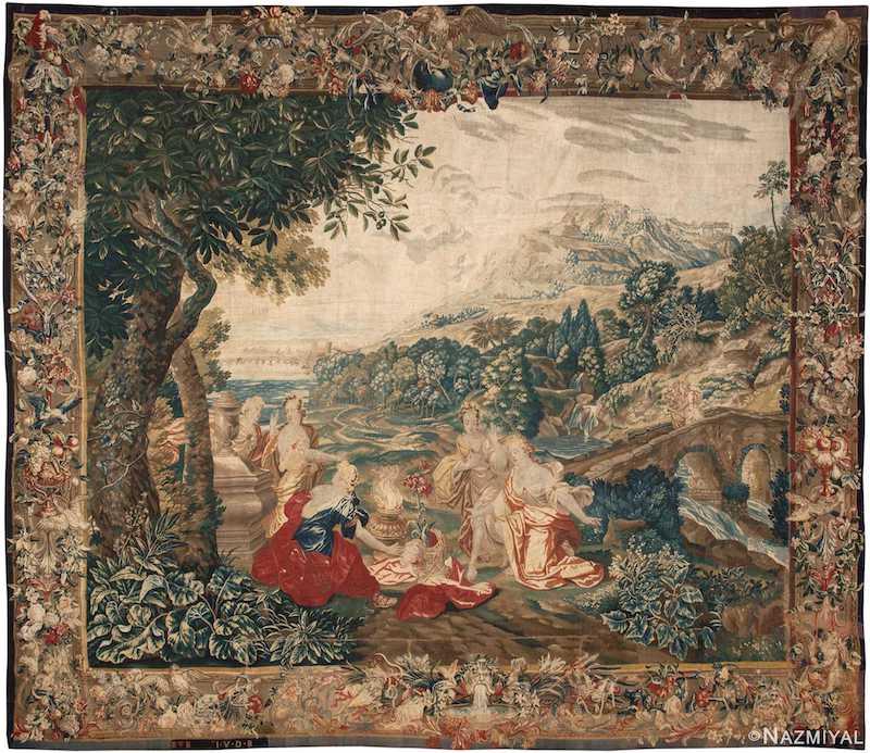 Rare Antique 17th Century Flemish Tapestry Nazmiyal