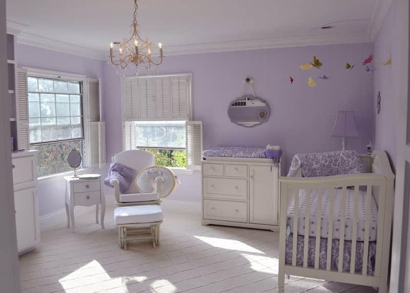 Lavender Nursery Interior Design Nazmiyal