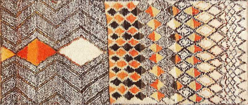 Tribal Vintage Berber Shag Moroccan Rug Nazmiyal